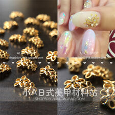 1pc 5*8mm Gold Flower 3D Nail Art Studs Decoration Charms For UV Gel Acrylic DIY