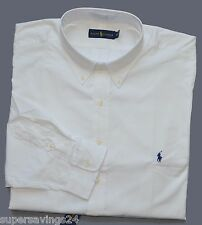 New 4XB 4XL BIG 4X POLO RALPH LAUREN Mens button down dress shirt white XXXXL 20