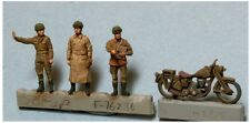 DTM F76236 1/76 Resin WWII British Dispatch Riders 2 (3 Figs + Motorcycle)