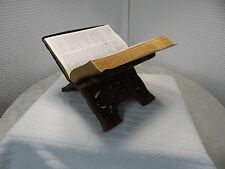 Vintage! Hand Carved Teak/Leaf Book Stand