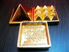 VASTU PYRAMID SET-POSITIVE ENERGY TOOL- SET OF 3 PLATE - 91 PYRAMIDS - ENERGIZED