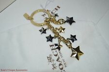 COACH Gold Silver Black STARS Multi Mix Key Ring Chain FOB VDAY GIFT IDEA $70