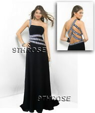 SHOW OFF YOUR STYLE! BLACK BEADED FORMAL/EVENING/PROM/BALL GOWN; AU 14/US 12