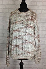 URBAN RENEWAL VINTAGE RETRO AZTEC 90'S GRANNY KNIT COSBY OVERSIZED JUMPER UK S