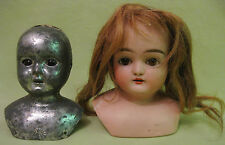 Antique 1920s German Bisque Doll Head