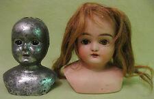 Antique 1920s German Bisque Doll Head