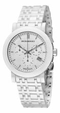 Burberry Women's BU1770 Ceramic White Chronograph Dial Watch..