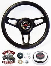 """1982-1994 S10 steering wheel BOWTIE BLACK SPOKE 13 3/4"""" Grant steering wheel"""