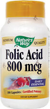 NATURE'S WAY Folic Acid  100 Capsules
