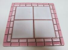 Vintage Handmade Square Mosaic Tile Teapot Stand or Decorative Ornament - 1970s