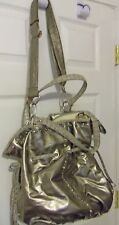 NICOLE LEE BEAUTIFUL LARGE GOLD FAUX LEATHER TOTE HANDBAG NEW WITHOUT TAGS