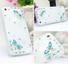 Glitter Crystal Bling Rhinestone Diamonds hard back PC Shell Phone Case Cover #O