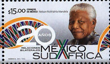 NELSON MANDELA MEXICO-S.A. 20 YEAR RELATIONS SUPERB MNH