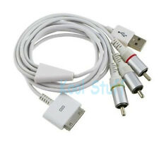 AV Video Composite Data Cable iPhone 3G 3Gs 4G 4s iPod Touch 2 3 4 iPad 2