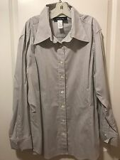 Women's JONES NEW YORK Shirt Size 18W STRETCH Button Down Dress Shirt