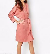 Reiss Casual Belted Pink Cupro Manhattan Trench Mac Coat Size 10 38 US 6 New