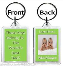 Personalised World's Best Keyrings - Mum, Dad, Uncle, Son, Teacher - ANY TITLE