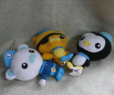 "Fisher Price Octonauts captain Barnacles Kwazii Peso plush 6"" cute Set of 3"