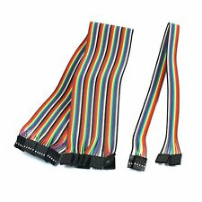 uxcell 10pcs 2.54mm 5Pin-5Pin F/F Solderless Jumper Cable Wire Connector 40cm