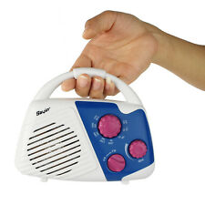 Mini Shower Radio AM/FM Manual Tuner Bathroom Hanging Music Radio co+track