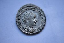 ANCIENT ROMAN GORDIAN 111 SILVER ANT COIN 3rd CENT AD