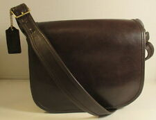 Coach NYC Vintage Mocha Leather Classic Pouch Saddle Bag - Refurbished