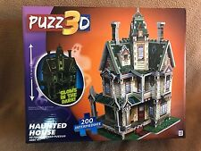 "PUZZ3D 200 Piece Intermediate HAUNTED HOUSE 3D Puzzle - 13"" tall age 12+"