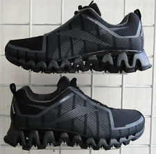 Men's Reebok Zigwild Tech TR 2 Sneakers, New Blk Dr Gry Mesh Running Shoes 10