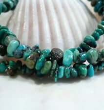 Kingman USA Mined Arizona Natural Boulder Turquoise Nugget Bead Strand 4 MM 16""