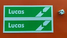 LUCAS Battery STICKERS 160MM X 40MM  classic ford x2 stickers