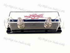 Sky High Car Audio Ring Terminal ANL Fuse Holder RED Logo Nickel Plated