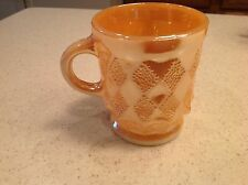 Vintage Fire King Peach Lustre Anchor HOcking Kimberly Diamond Mug cup
