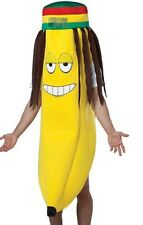 Rasta Banana Costume Adult Mens Womens Funny Humorous Halloween Cosplay - Fast -