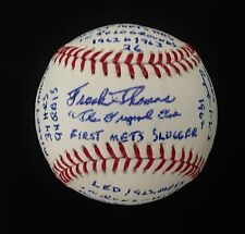 "FRANK THOMAS ""THE ORIGINAL ONE"" BASEBALL-1st METS SLUGGER ULTIMATE ""STAT"" BALL"