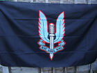 SPECIAL AIR SERVICE - SAS Famous Army Cap/Beret Badge On Black Military Flag New