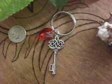 Twilight Vampire Celtic Cottage Key Red Crystal Heart