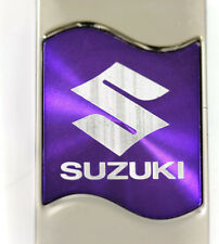 Suzuki Rectangular Wave Purple Authentic Logo Key Ring Fob Keychain Lanyard