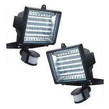 2 X 45 LED Floodlight Security Light with PIR Motion Sensor - Energy Saving