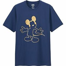 UNIQLO x Disney 'Gold Mickey Mouse' Magic for All T-Shirt M Navy w/ Gold **NWT**