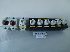 9x Safety socket/Fuse base for Din-rail mounting