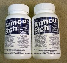 [2 10oz Bottles!] Armour Etch Glass Etching Cream -NEW-