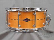 Craviotto Custom Snare Drum 6.5x14 Mahogany w/ Walnut Inlay BB/BB Bearing Edges
