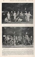 1896 MILITARY PRINT : ROYAL MARINE ARTILLERY UNIFORMS FOREIGN STATIONS, HOME SER