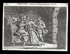 santino incisione1800 S.PAOLO V. DI COSTANTINOPOLI M.