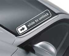 Slide to unlock Windscreen Sticker Drift Car Slammed JDM Lowered Dub  Decal m25