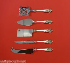 GRANDE BAROQUE BY WALLACE STERLING SILVER FRUIT & CHEESE SERVING SET 5-PC CUSTOM