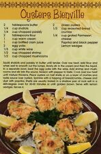 Postcard Recipe New Orleans Oysters Bienville