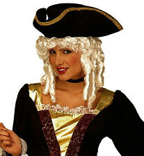 Ladies White Milady Wig Duchess Pirate Medieval Colonial Noble Baroque Fancy Dre