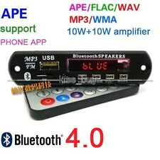 Bluetooth 4.0 APE FLAC WAV WMA MP3 decoder board 10w+10W amplifier smart control