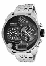NEW DIESEL MR DADDY 57MM MULTI TIME CHRONOGRAPH BLACK DIAL BRACELET DZ7221